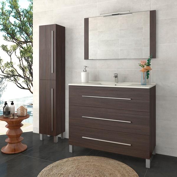 Mueble de baño con patas modelo Palma de 3 cajones, facil instalacion