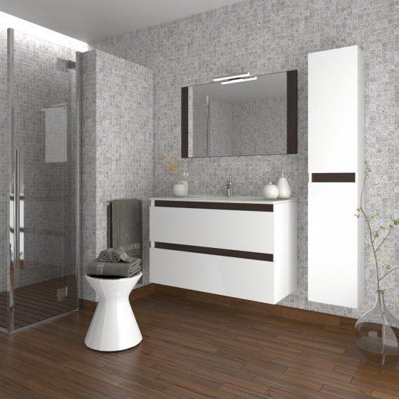 Mueble de ba o modelo malaga elegante con u ero - Muebles bano malaga ...